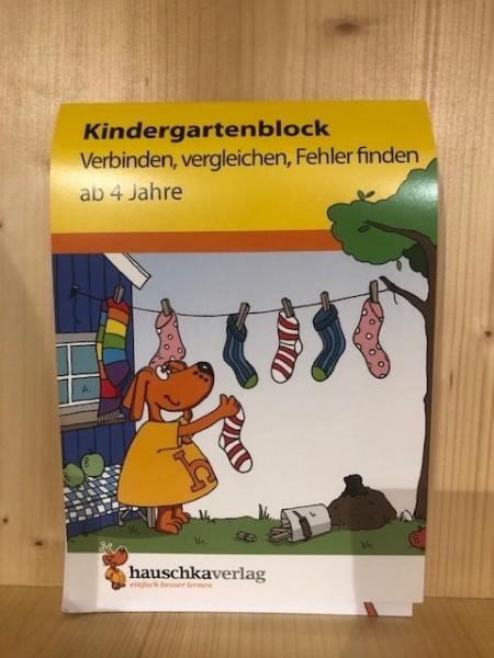 Kindergartenblock Verbinden, vergleichen, Fehler finden