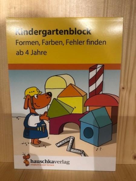 Kindergartenblock Formen, Farben, Fehler finden