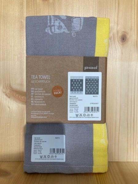 PEACE tea towels double pack 50x70