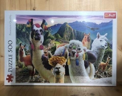 Lamas in den Bergen PUZZLE 500