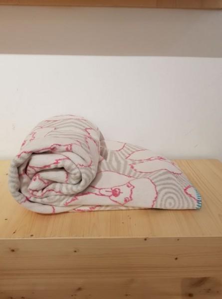 POODLE blanket 150 x 200, fuchsia