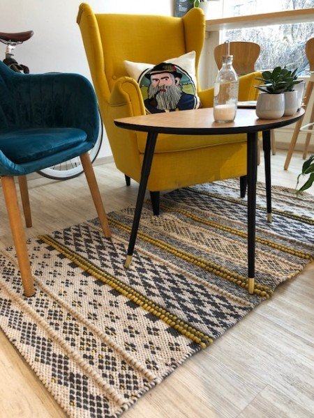 NOVA indoor carpet 90 x 160, mustard